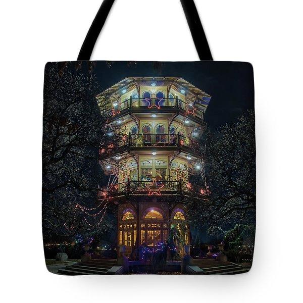 The Pagoda At Christmas Tote Bag