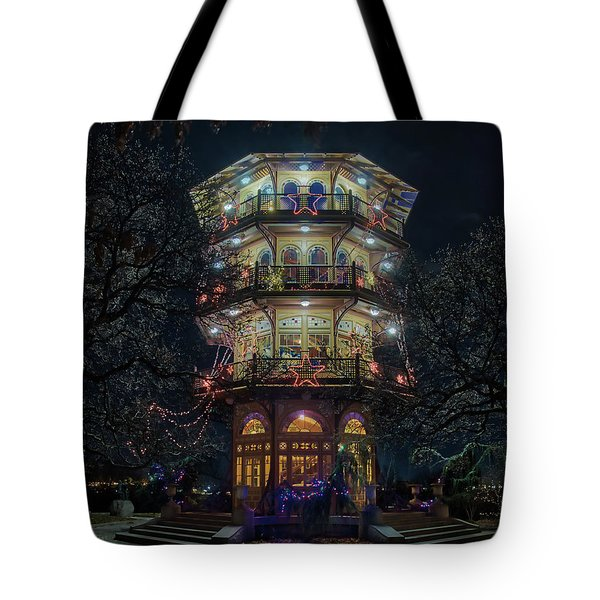 The Pagoda At Christmas Tote Bag
