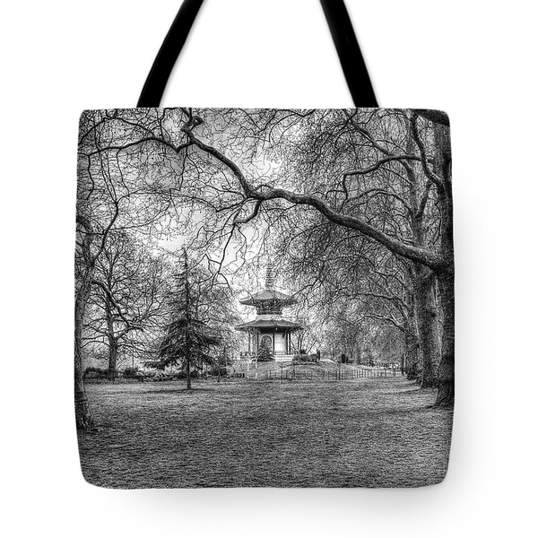 The Pagoda Battersea Park London Tote Bag