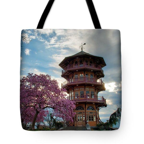 The Pagoda In Spring Tote Bag