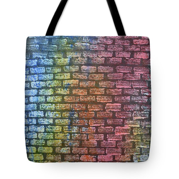 The Painted Brick Wall  Tote Bag by Zilpa Van der Gragt