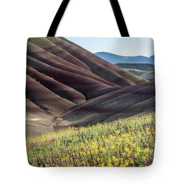 The Painted Hills In Bloom Tote Bag