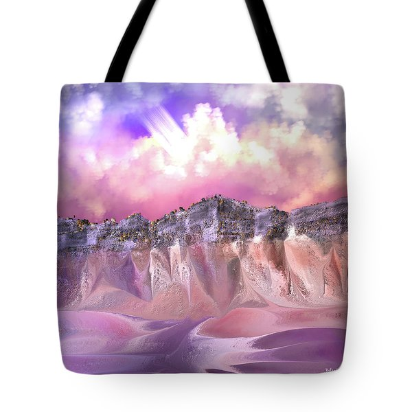 The Painted Sand Rocks Tote Bag