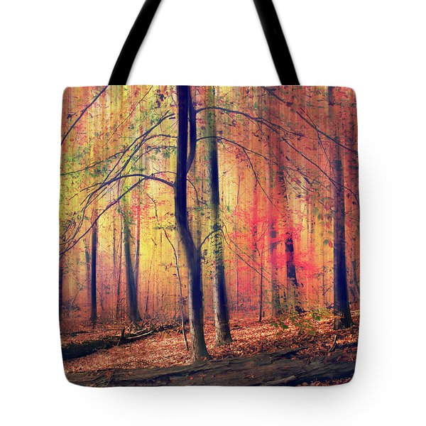 Tote Bag featuring the photograph The Painted Woodland by Jessica Jenney