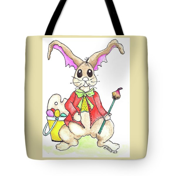 Tote Bag featuring the painting The Painter by Rosemary Aubut