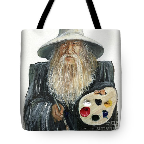 The Painting Wizard Tote Bag