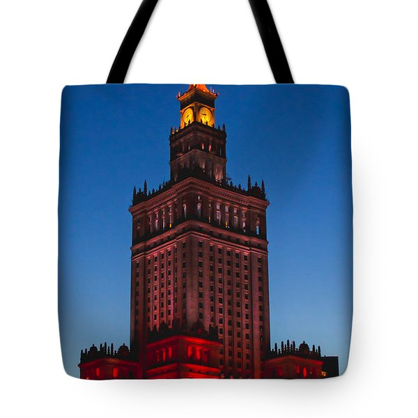 The Palace Of Culture And Science  Tote Bag