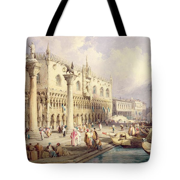 The Palaces Of Venice Tote Bag by Samuel Prout