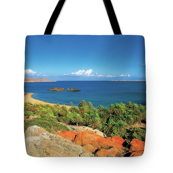 The Palm Forest Of Vai - Crete Tote Bag