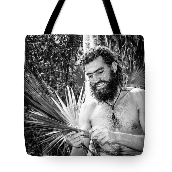 The Palm Frond Weaver Tote Bag