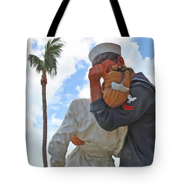Tote Bag featuring the photograph The Palm Kiss by Jost Houk