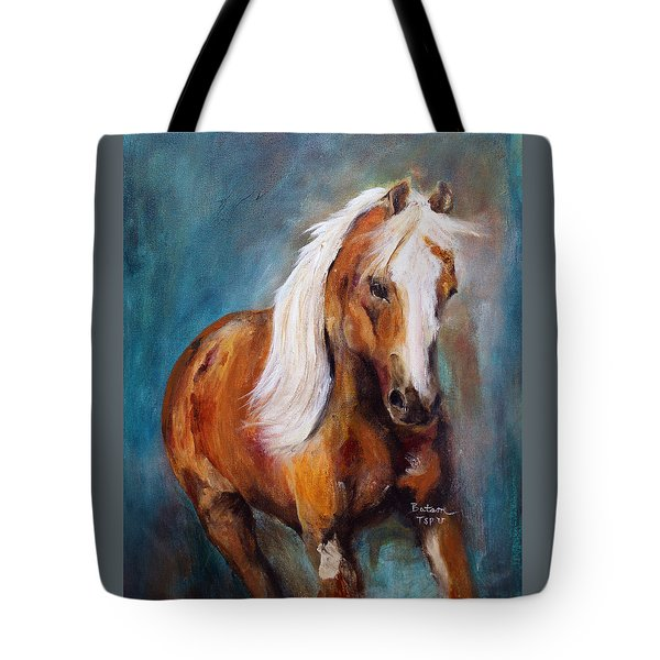 Tote Bag featuring the painting The Palomino by Barbie Batson