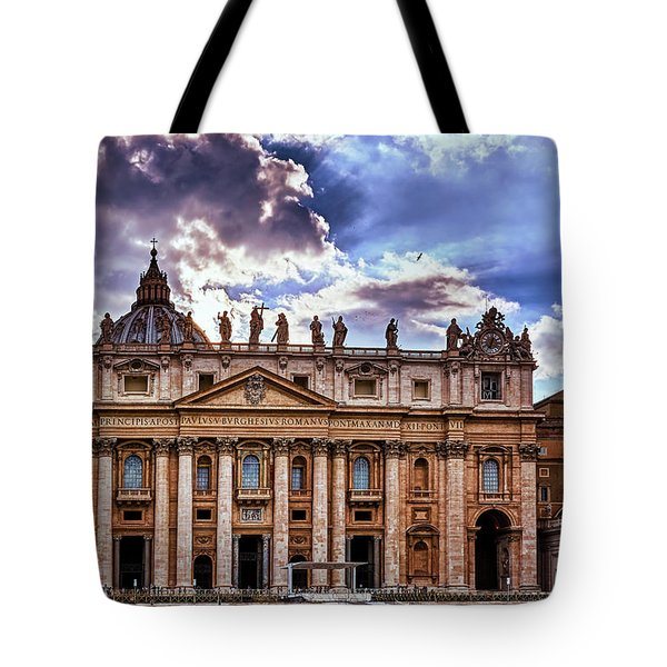 The Papal Basilica Of Saint Peter Tote Bag