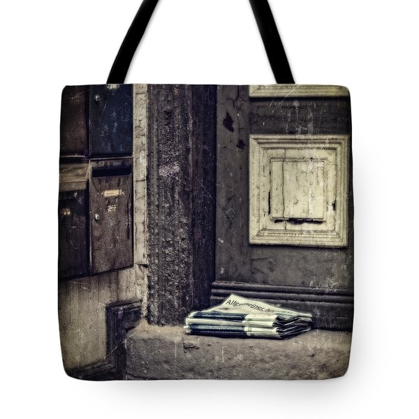 The Paper Boy Was There. Tote Bag