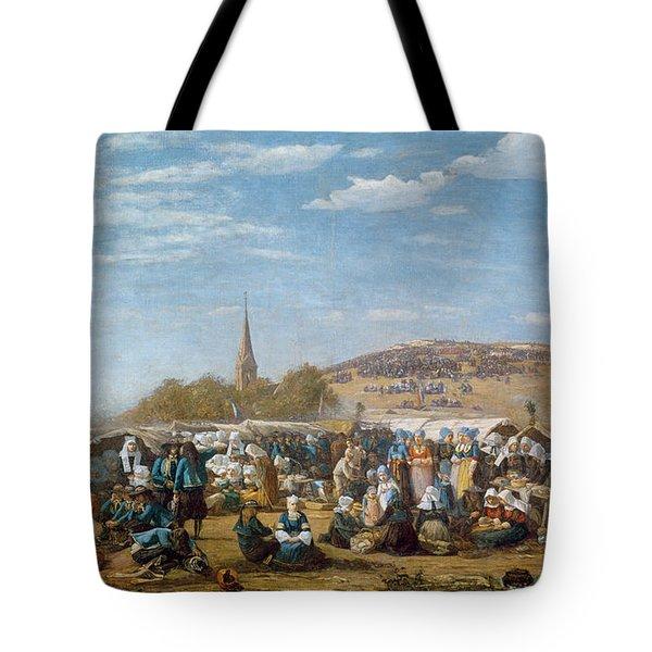 The Pardon Of Sainte Anne La Palud Tote Bag by Eugene Louis Boudin
