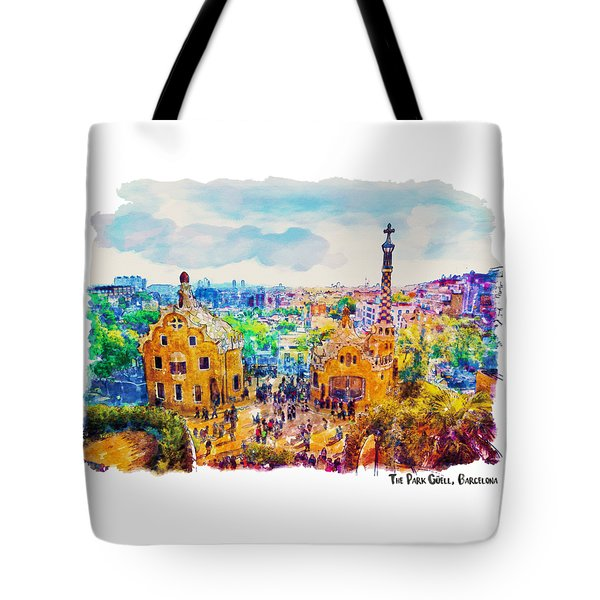 Park Guell Barcelona Tote Bag by Marian Voicu