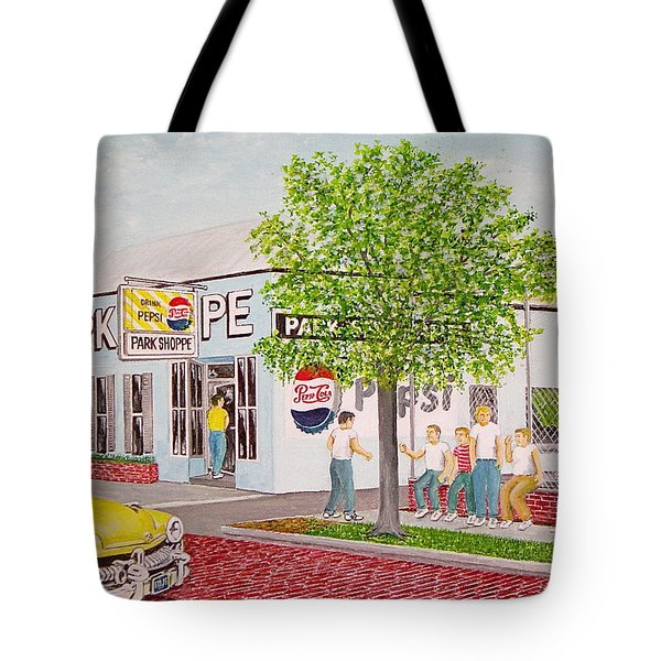 The Park Shoppe Portsmouth Ohio Tote Bag by Frank Hunter