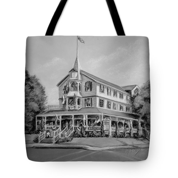 The Parker House Black And White Tote Bag