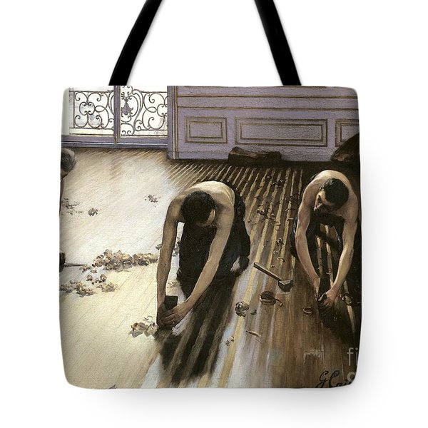 The Parquet Planers Tote Bag by Gustave Caillebotte