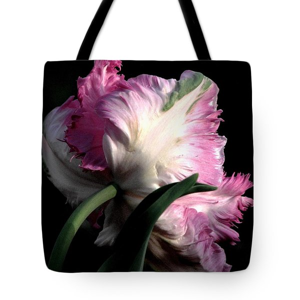 The Parrot Tulip Queen Of Spring Tote Bag