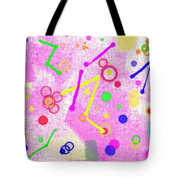 Tote Bag featuring the digital art The Party Is Here by Silvia Ganora