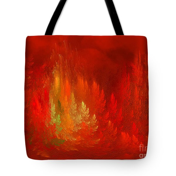 Tote Bag featuring the digital art The Passion  Forest - Fantasy Art By Giada Rossi by Giada Rossi