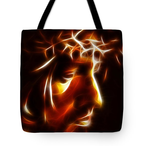 The Passion Of Christ Tote Bag by Pamela Johnson