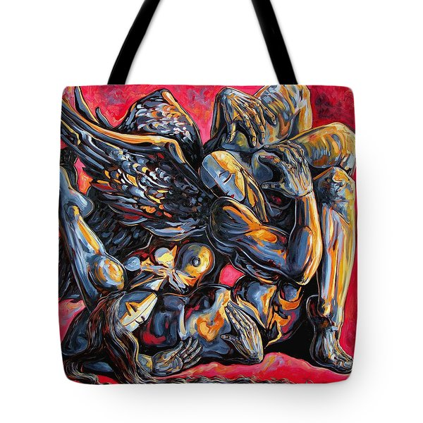 The Passion Of The Fallen Tote Bag by Darwin Leon