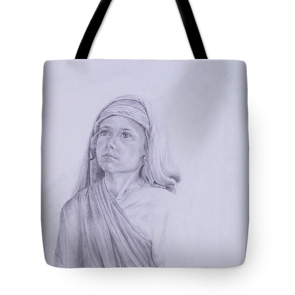 The Path Before Him From The Life Of Jesus Series Tote Bag by Susan Harris
