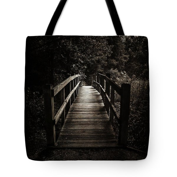 The Path Between Darkness And Light Tote Bag