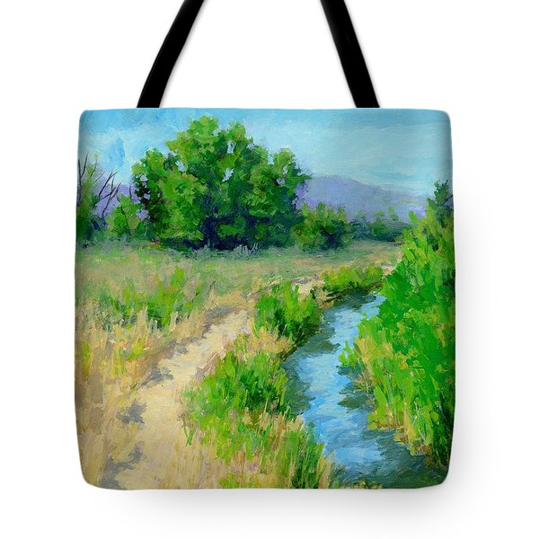 The Path By The Ditch Tote Bag