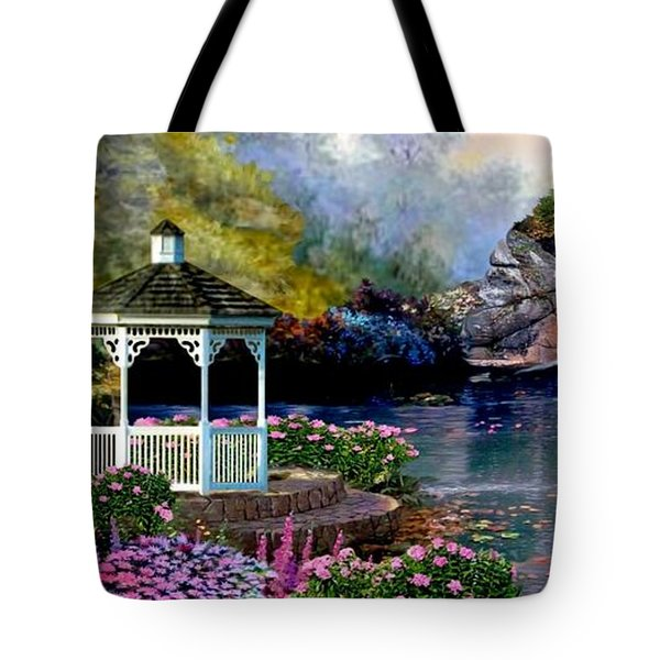The Path Least Fallowed 2 Tote Bag by Ron Chambers