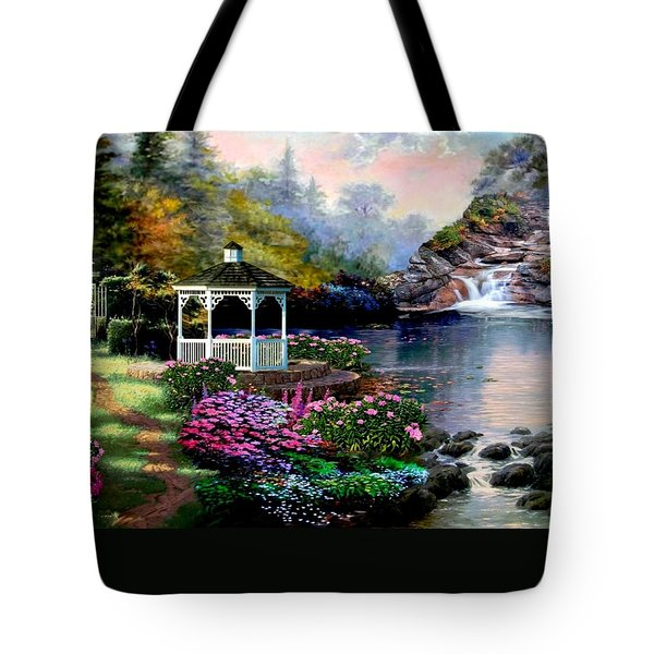 The Path Least Followed Tote Bag by Ron Chambers