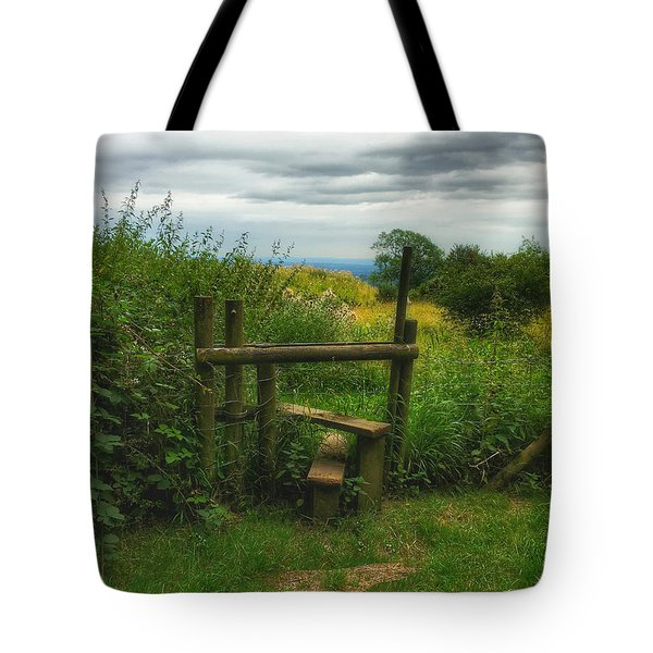 Tote Bag featuring the photograph The Path Most Traveled  by Connie Handscomb