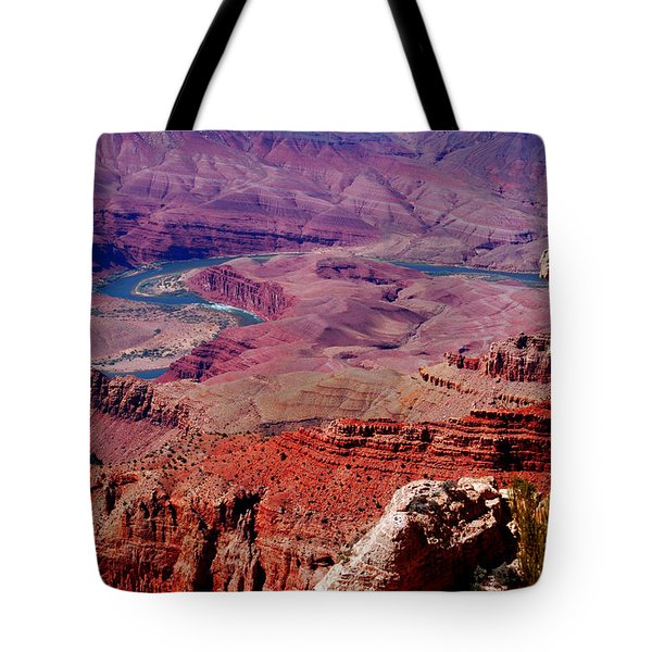 The Path Of The Colorado River Tote Bag by Susanne Van Hulst
