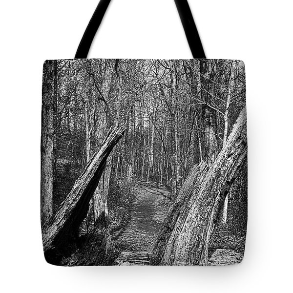 The Path Through The Woods Bandw Tote Bag