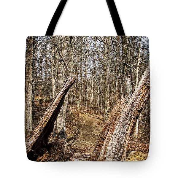 The Path Through The Woods Tote Bag
