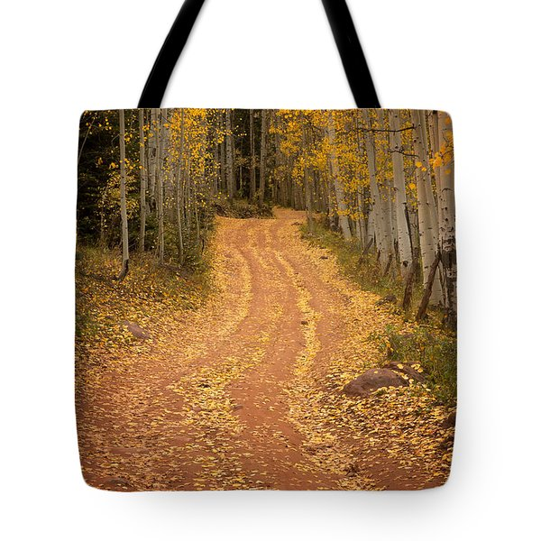 The Pathway To Fall Tote Bag by Ronda Kimbrow