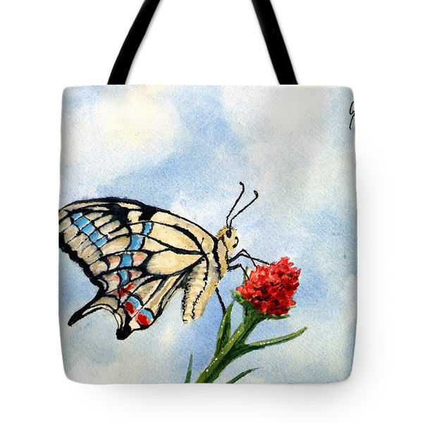 Tote Bag featuring the painting The Patriot by Sam Sidders