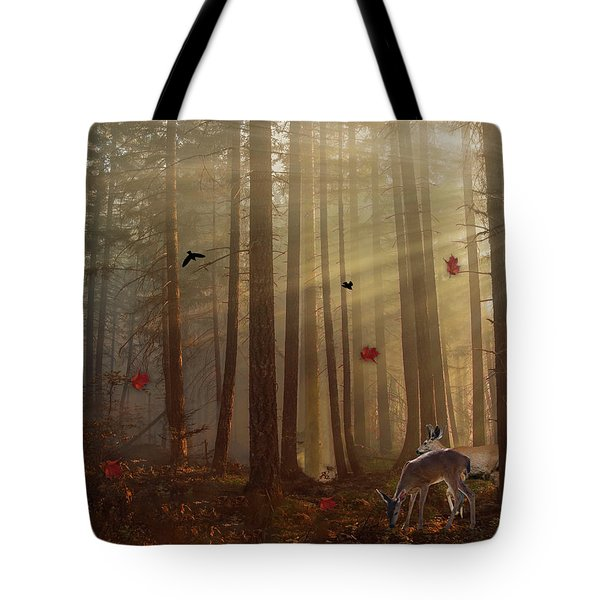 The Peace Of An Autumn Sunset Tote Bag