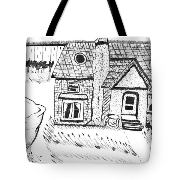 The Peaceful Cottage Tote Bag