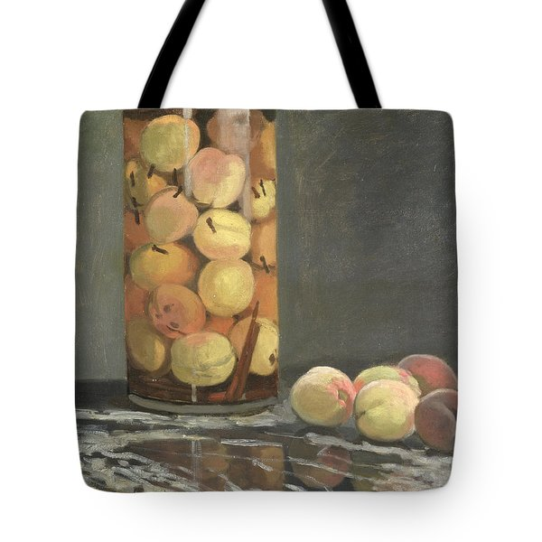 The Peach Glass Tote Bag by Claude Monet