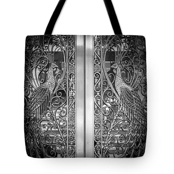 The Peacock Door Tote Bag