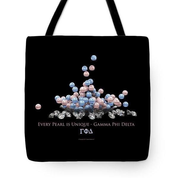 The Pearls Of Gamma Phi Delta Tote Bag