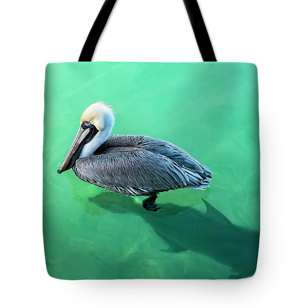 The Pelican And The Shark Tote Bag