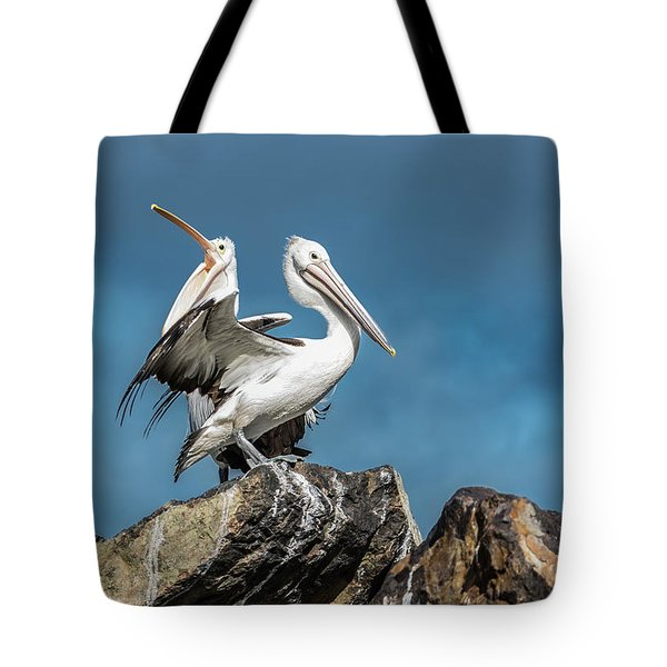 The Pelicans Tote Bag by Racheal Christian