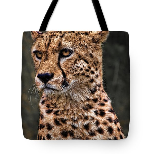 The Pensive Cheetah Tote Bag by Chris Lord