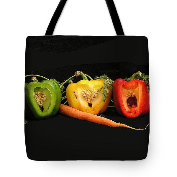 The Pepper Trio Tote Bag by Carol Milisen