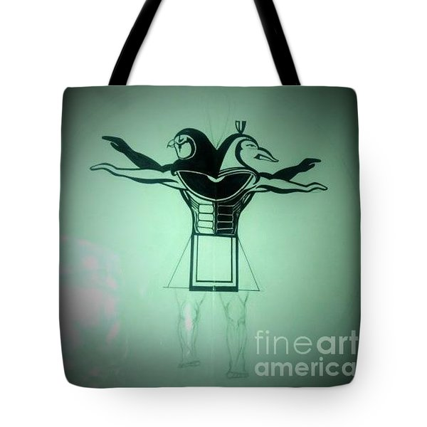 The Perfect Circling Of Your Square Tote Bag