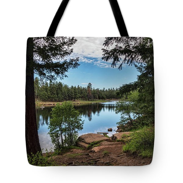 Tote Bag featuring the photograph The Perfect Fishing Spot  by Saija Lehtonen